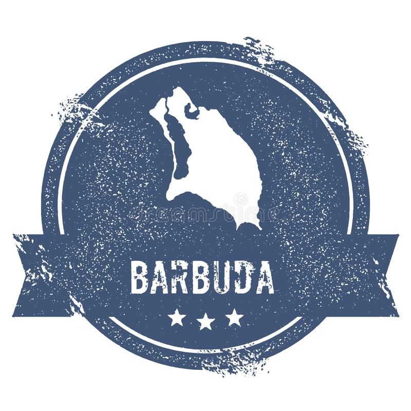 Signe de logo de Barbuda illustration stock