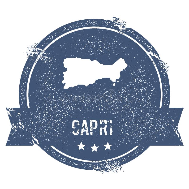Signe de logo de Capri illustration de vecteur