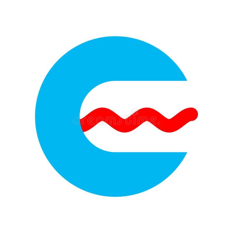 Signe de logo d'orthophoniste symbole de pathologiste de la parole Ouvrez le mout illustration de vecteur