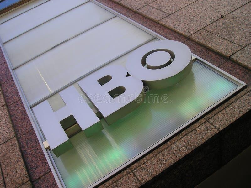 Signe de logo de HBO (caisse à la maison) photos libres de droits