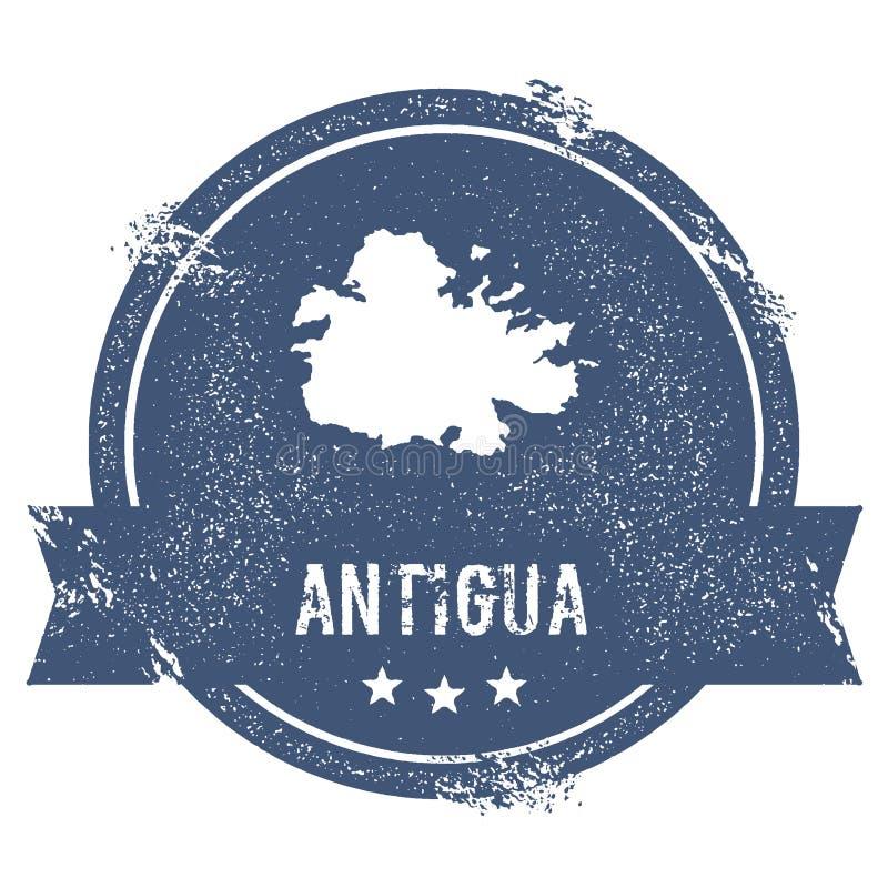 Signe de logo de l'Antigua illustration libre de droits