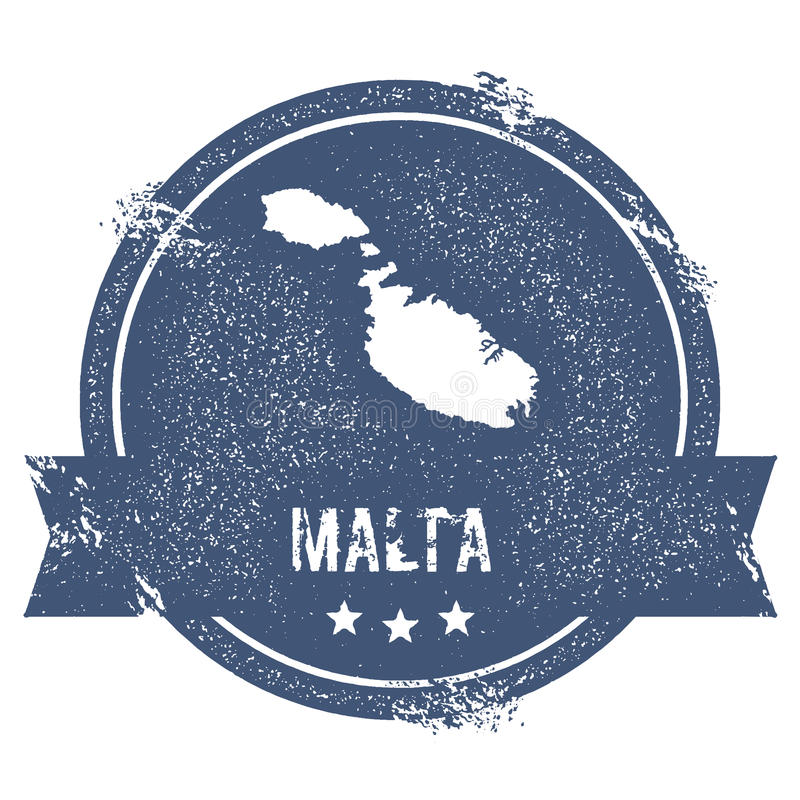 Signe de logo de Malte illustration de vecteur