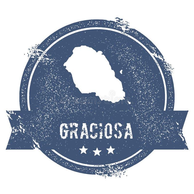 Signe de logo de Graciosa illustration de vecteur