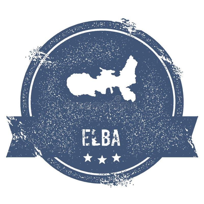 Signe de logo de l'Île d'Elbe illustration stock