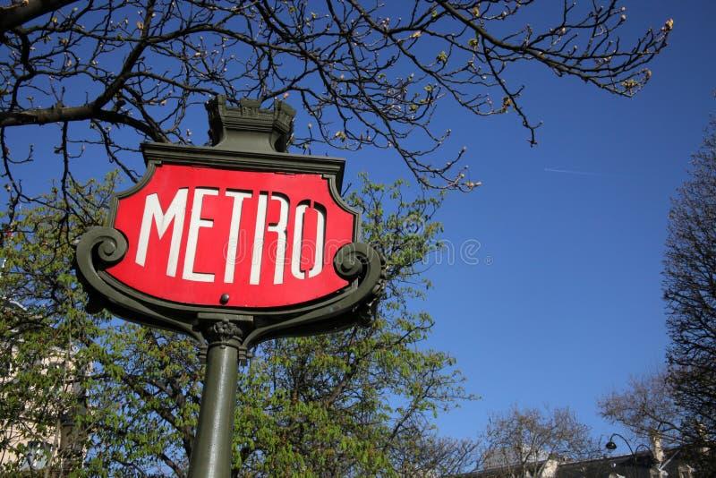 Signe de métro de Paris image libre de droits