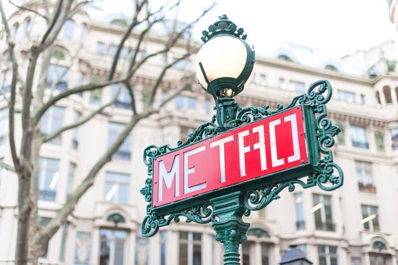 Signe de métro de Paris photographie stock