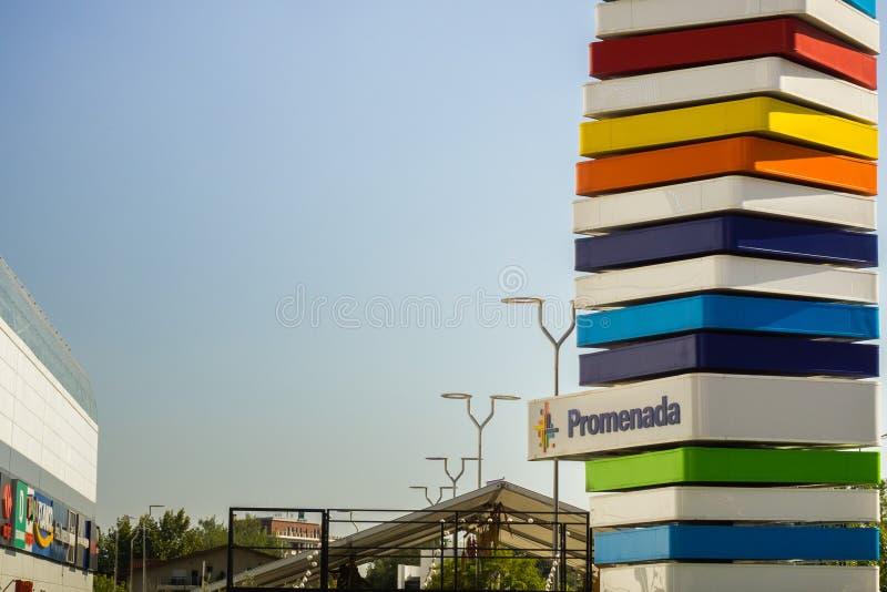 Signe de mail de Promenada photos stock