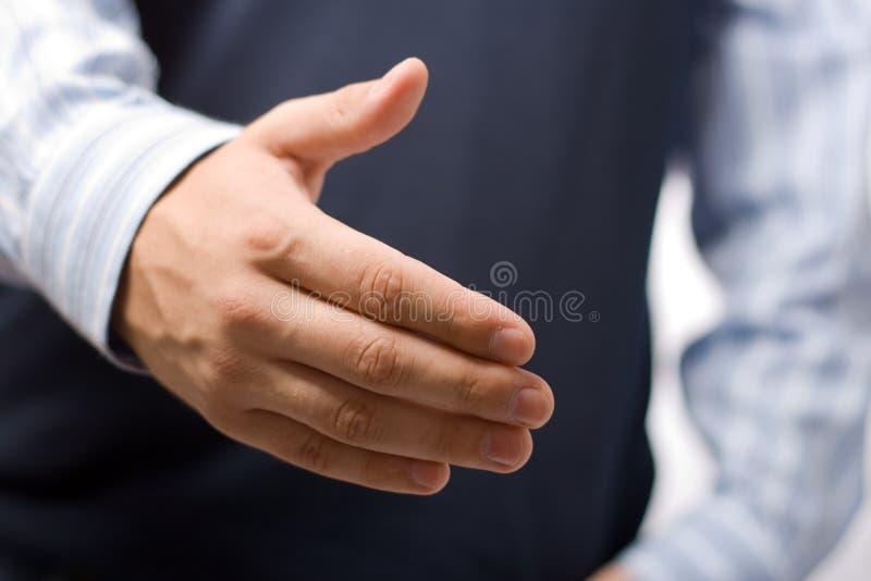 Signe de main d'homme bonjour images stock