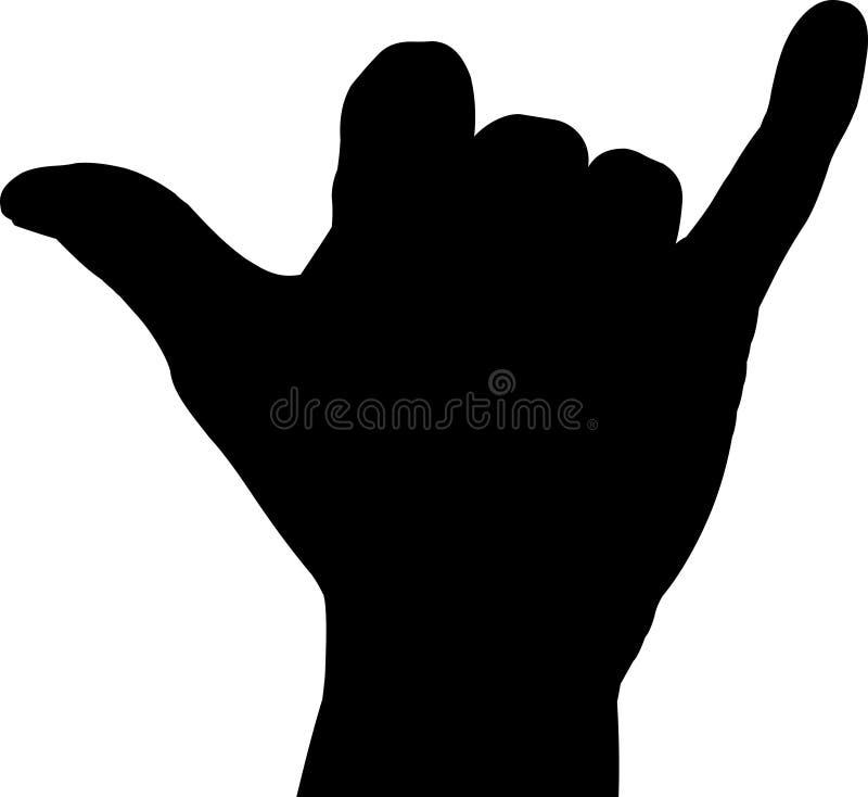 Signe de main de Shaka illustration stock