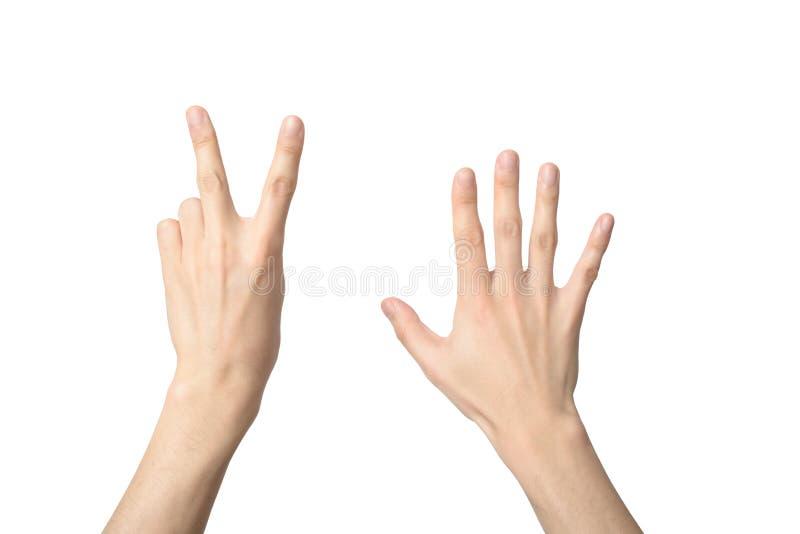 Signe de main du numéro sept images libres de droits