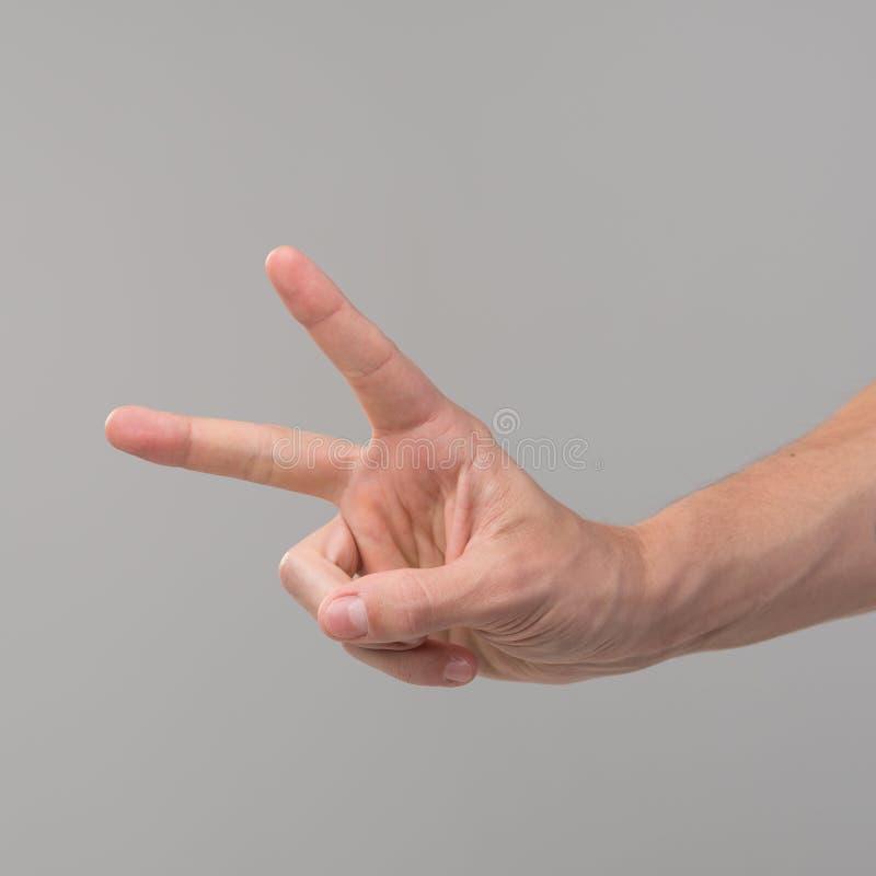 Signe de main de victoire image libre de droits