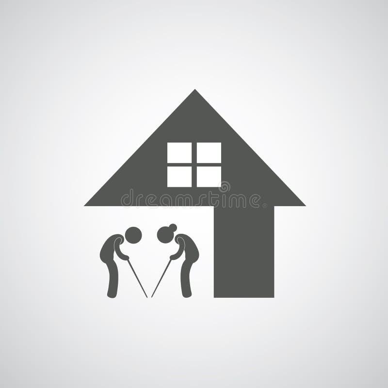 Signe de maison de repos illustration libre de droits