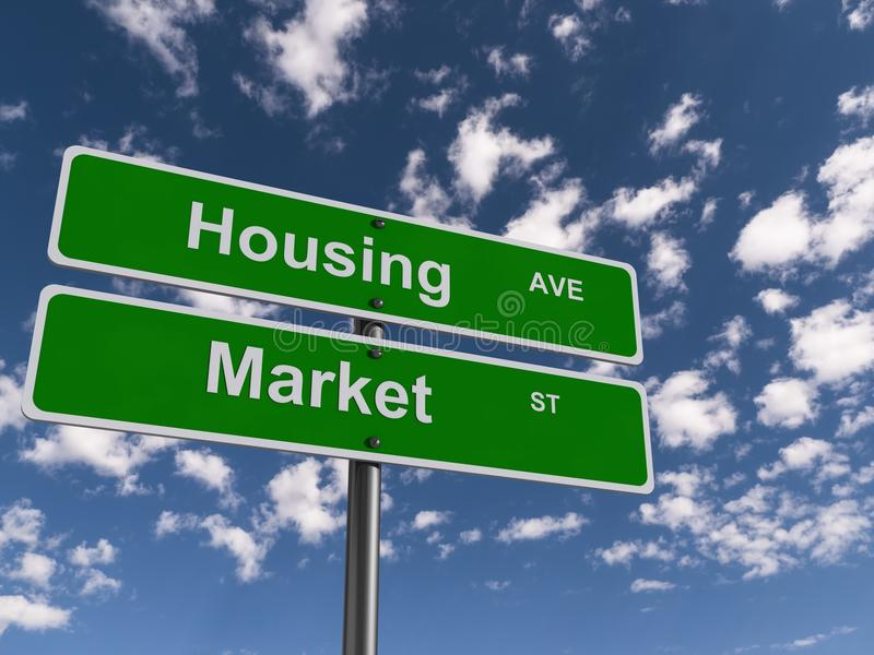 Signe de marché du logement photo libre de droits