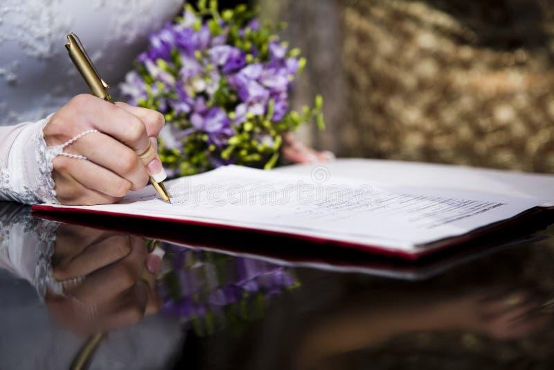 Signe de mariée photos libres de droits