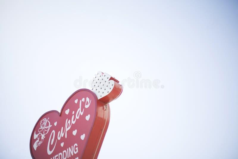 Signe de mariage de Vegas photo libre de droits