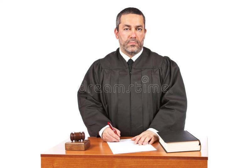 Signe de masquer la décision judiciaire photos stock