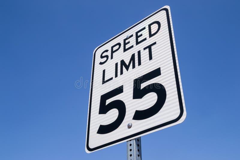 signe de 55 Miles par heure photo libre de droits