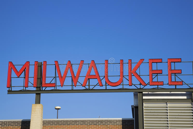 Signe de Milwaukee image stock