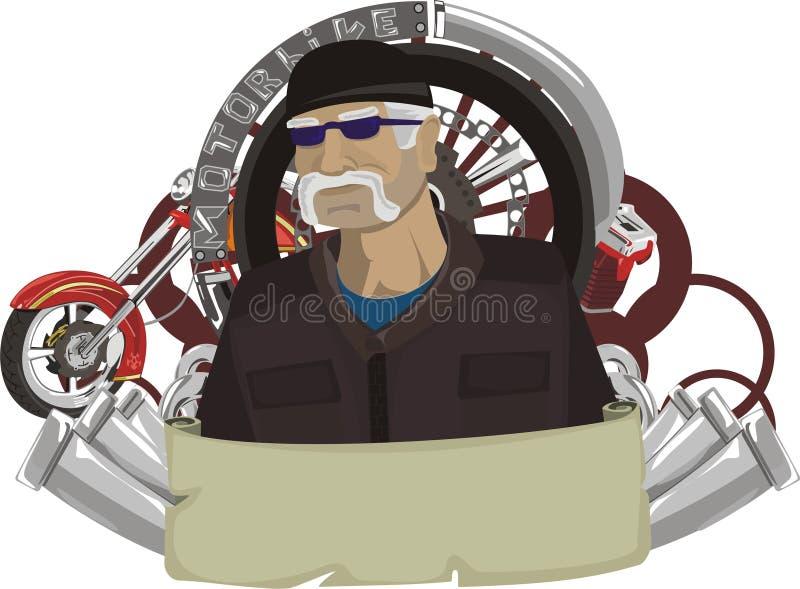 signe de motocyclette illustration stock