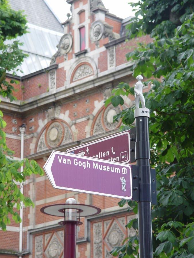 Signe de musée de Van Gogh images stock