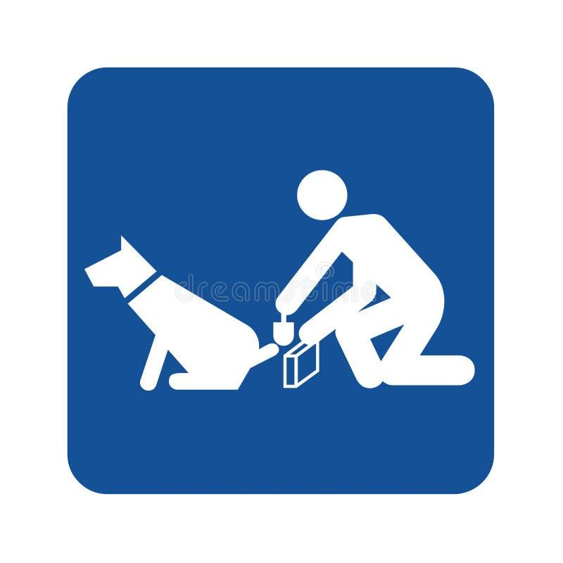 Signe de nettoyer après le chien pooping illustration de vecteur
