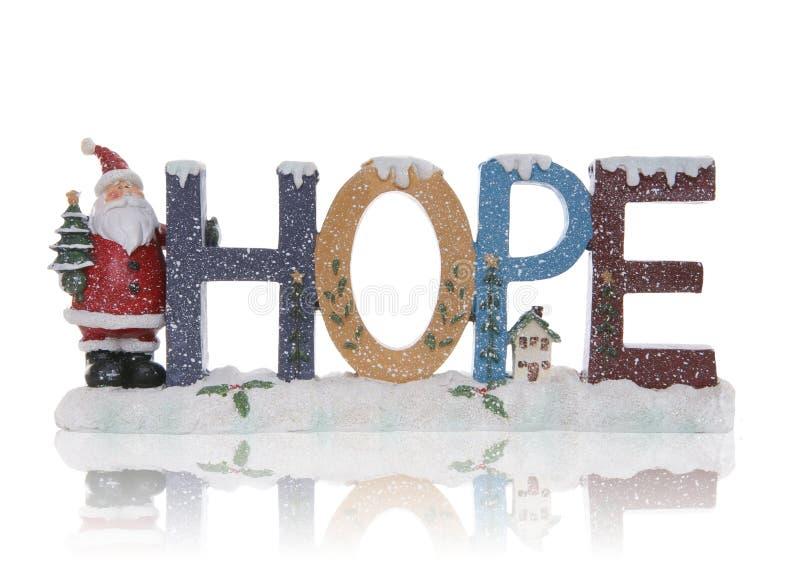 Signe de Noël d'espoir photographie stock