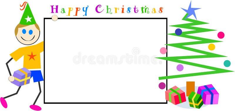 Signe de Noël de gosses illustration stock