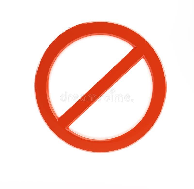 Signe de No/not illustration stock