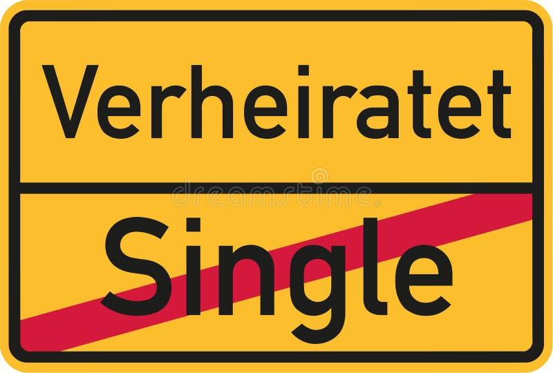 Signe de nom de lieu de simple à marier - Allemand illustration de vecteur