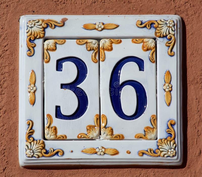 Signe de numéro de maison image libre de droits