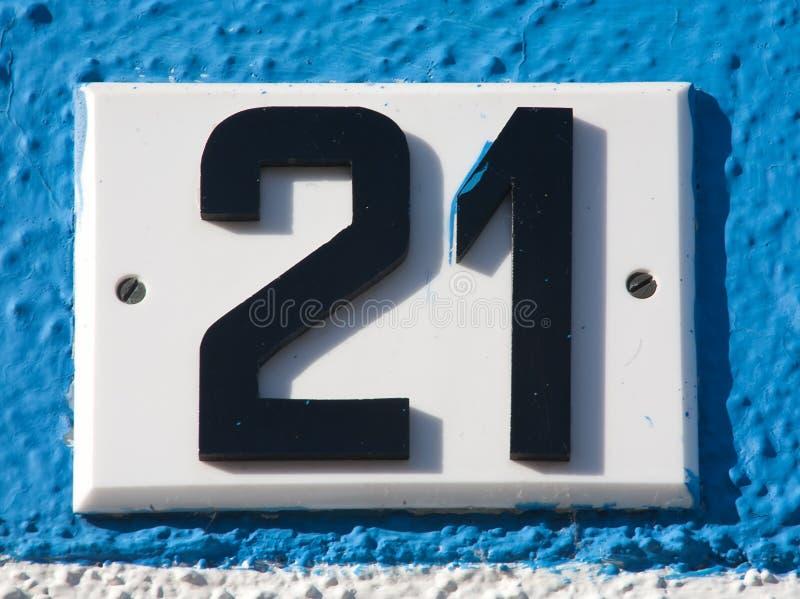 Signe de numéro de maison image stock