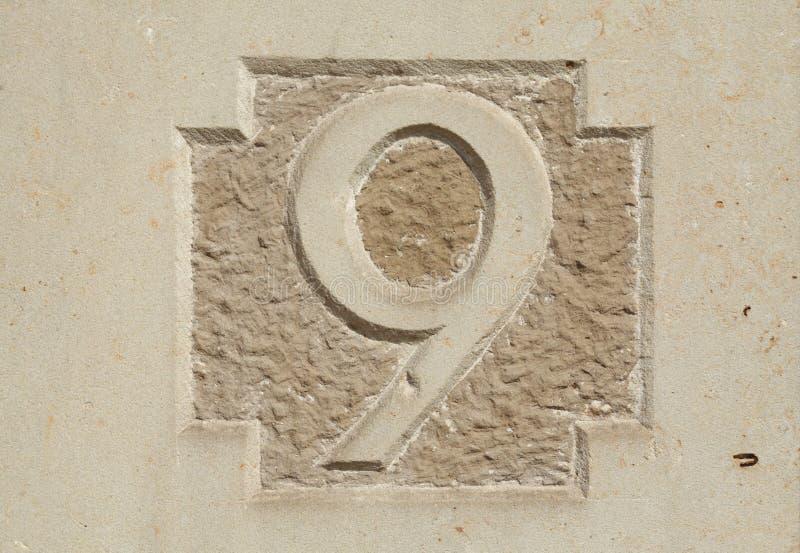 Signe de numéro de maison images libres de droits