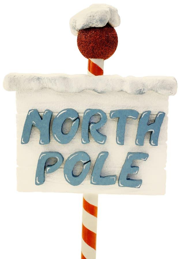 Signe de Pôle Nord image stock