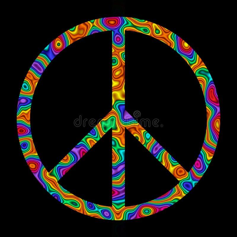 Signe de paix d'arc-en-ciel illustration de vecteur