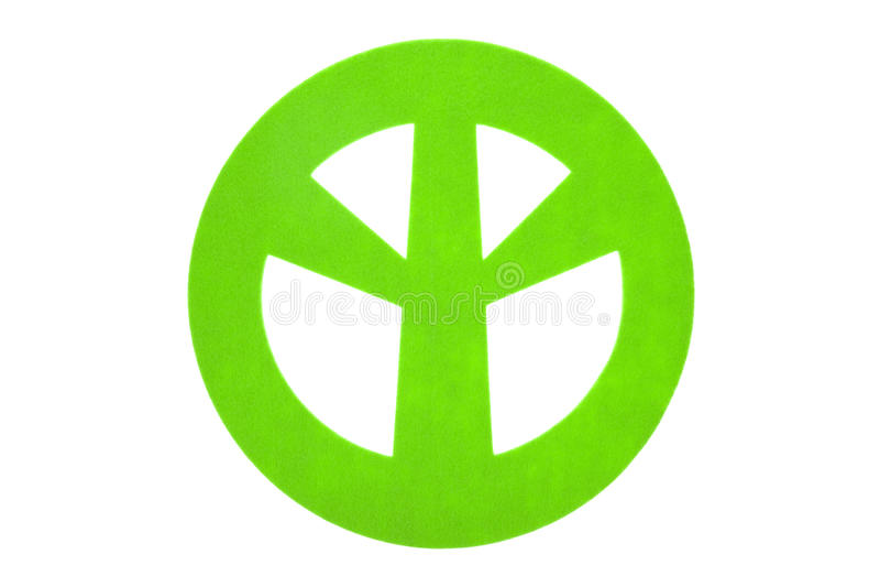 Signe de paix de feutre de vert image stock