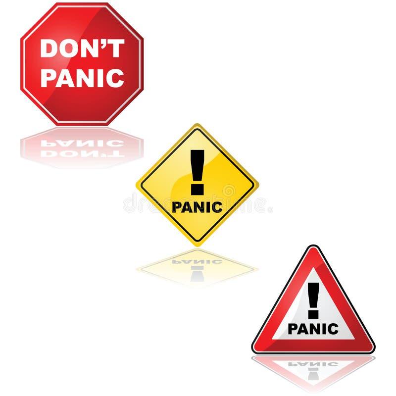 Signe de panique illustration de vecteur
