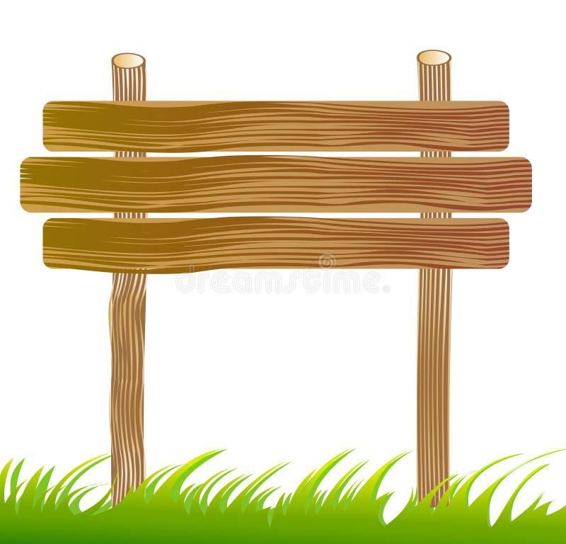 signe de panneau en bois illustration stock