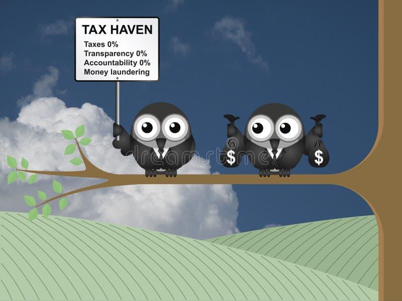 Signe de paradis fiscal illustration stock