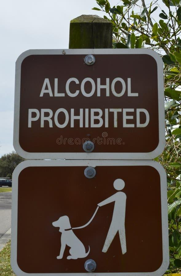 Signe de parc de chien photo libre de droits