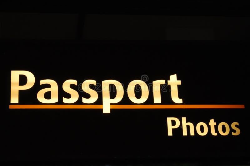 Signe de photos de passeport image libre de droits