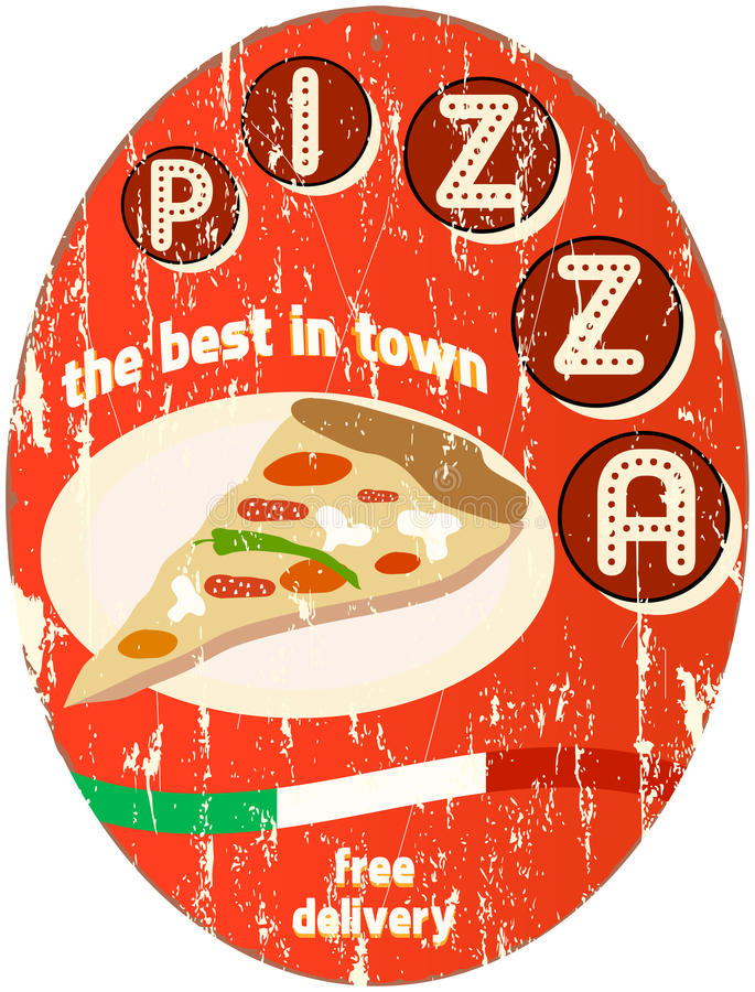 Signe de pizza illustration libre de droits