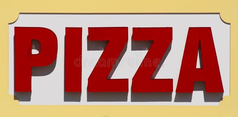 Signe de pizza photo stock