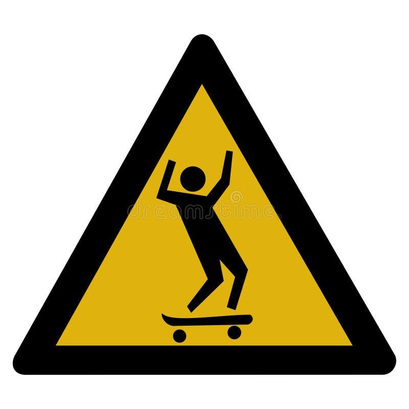 Signe de planche à roulettes illustration stock