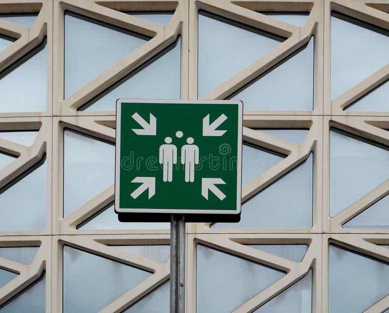 Signe de point d'Assemblée photo libre de droits