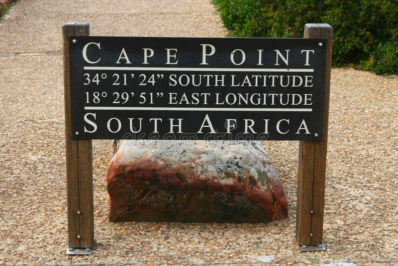Signe de point de cap, Afrique du Sud image stock