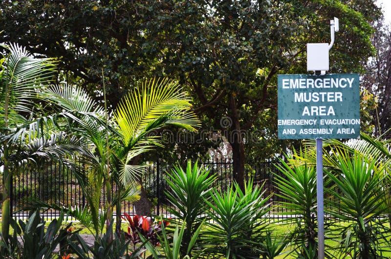 Signe de point de rencontre d'évacuation de secours image libre de droits