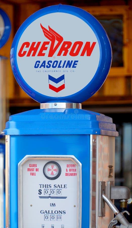 Signe de pompe à gaz de Chevron image stock