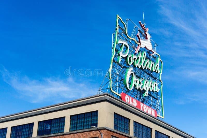 Signe de Portland Orégon image libre de droits