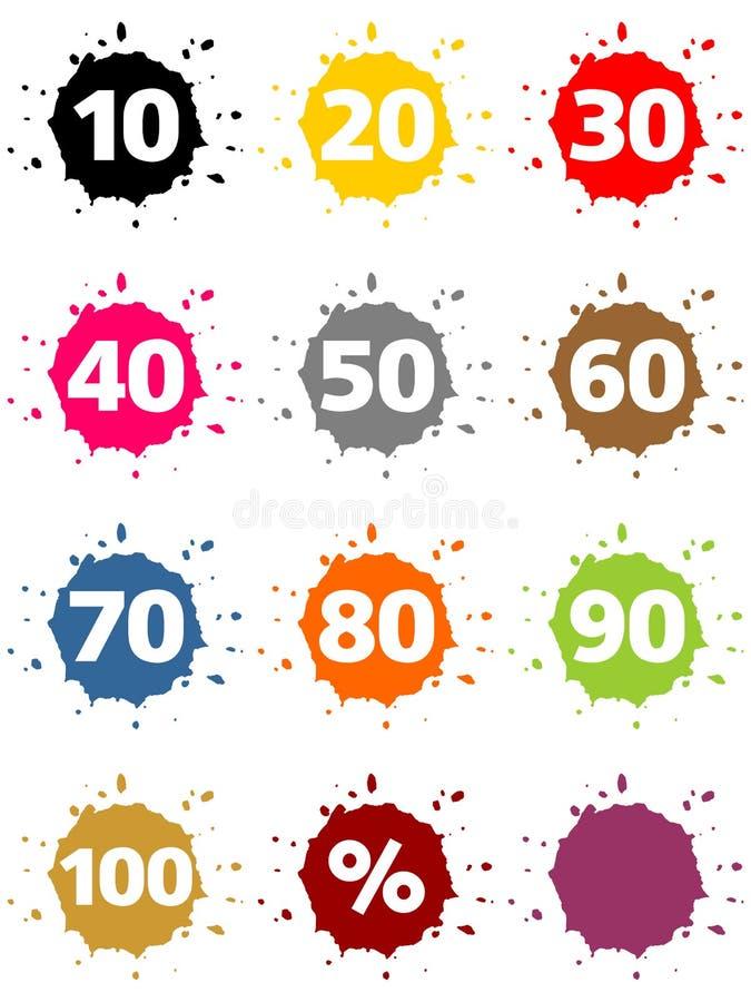 Signe de pourcentage coloré illustration stock