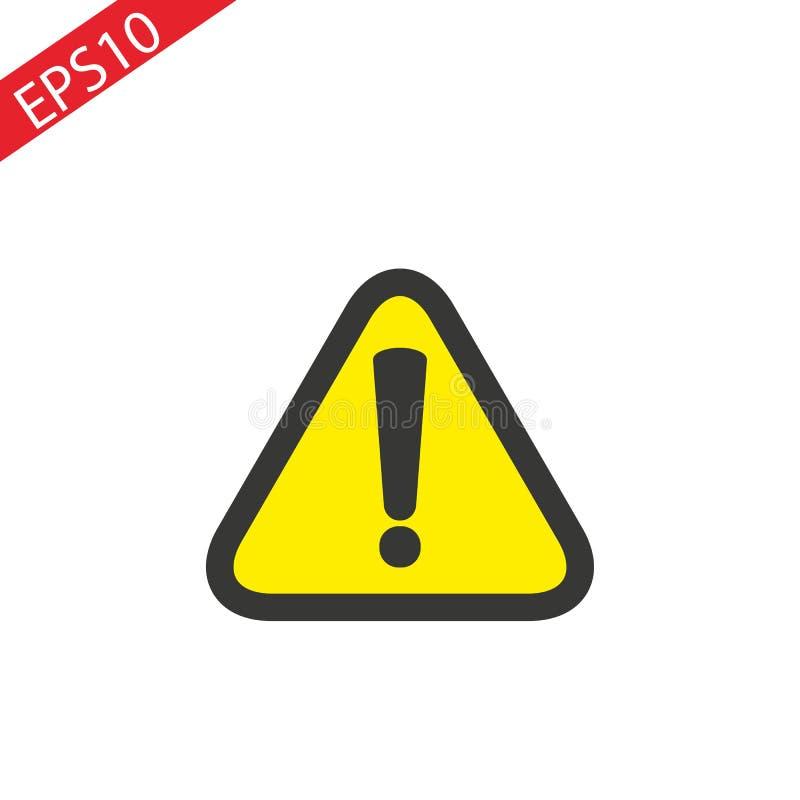 Signe de précaution pour l'icône de vecteur de signe de danger illustration libre de droits